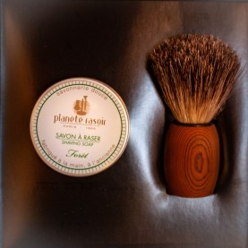 Coffret PLANETE RASOIR (2 pièces : blaireau/savon)
