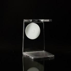 Support blaireau simple plexiglass