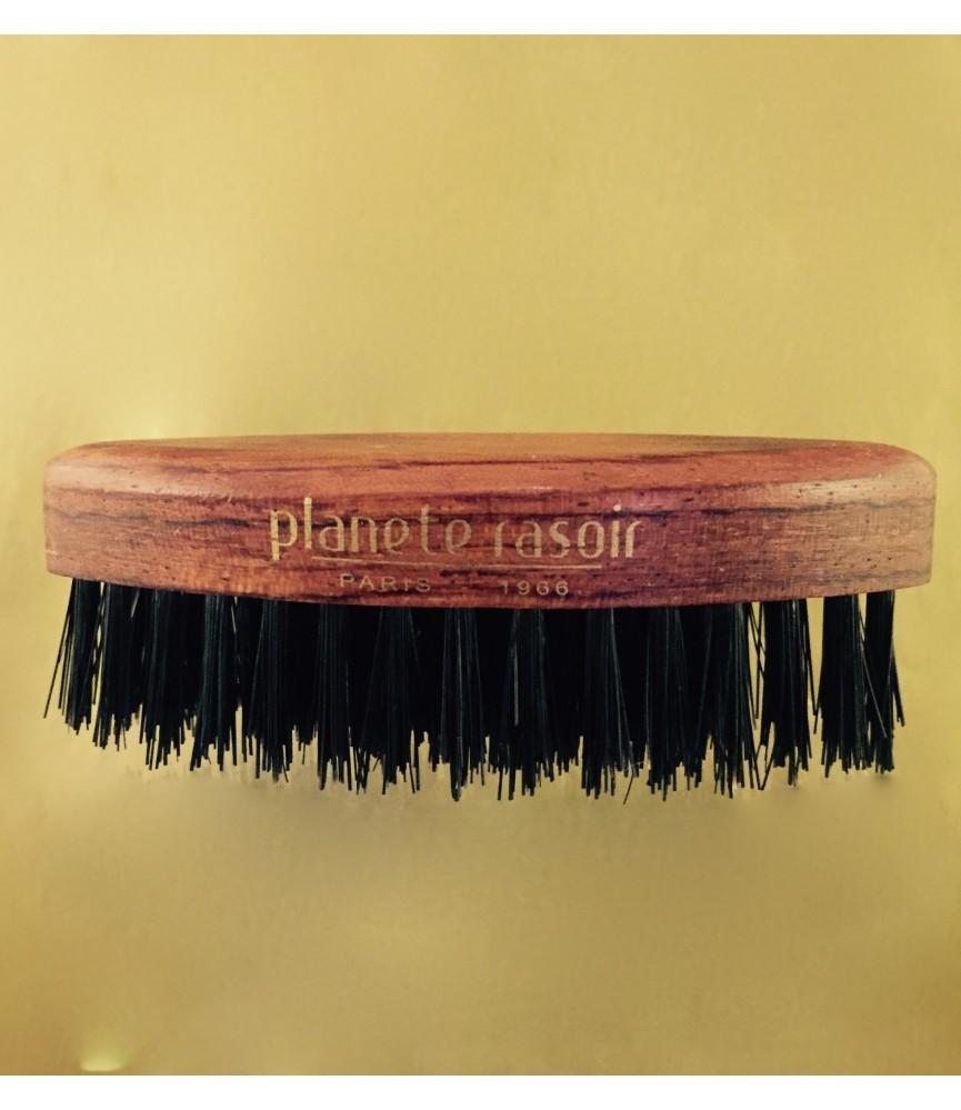 Brosse à barbe Ovale Teintée palissandre,  5 rangs, finition main