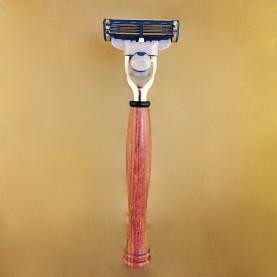 Le rasoir Match 3, bois « le Vernissé»