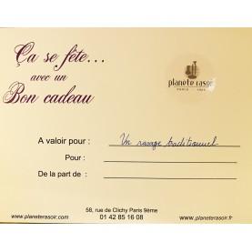 Bon Cadeau - Rasage Traditionnel au coupe-chou