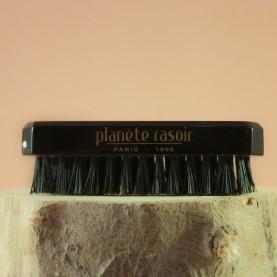 Brosse à ongle Planète Rasoir, Plexi noir, 3 rangs